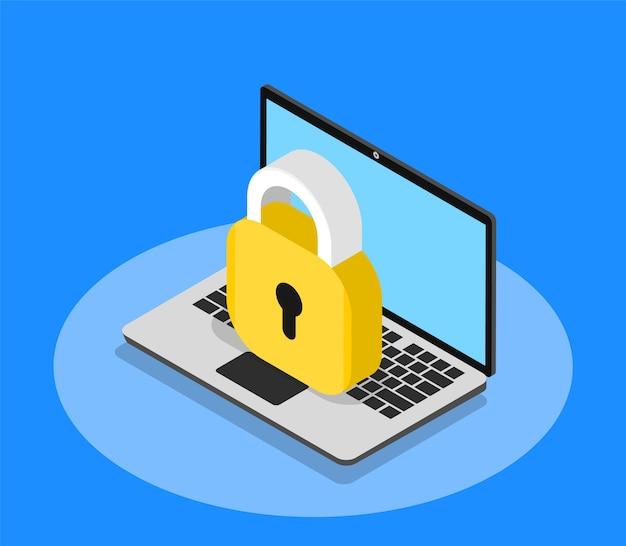 Sicurezza del laptop. privacy dei dati personali.