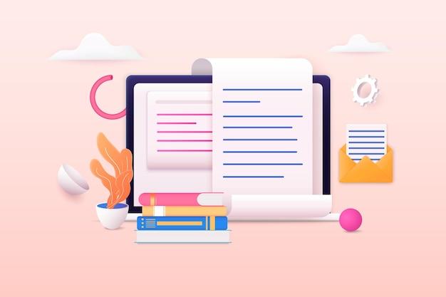 Computer portatile con grafici e analisi di grafici dati finanziari aziendalimonete del dollaro marketing online