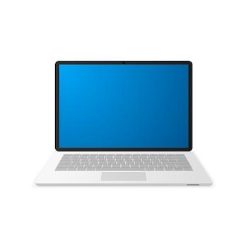 Computer portatile con schermata blu vuota