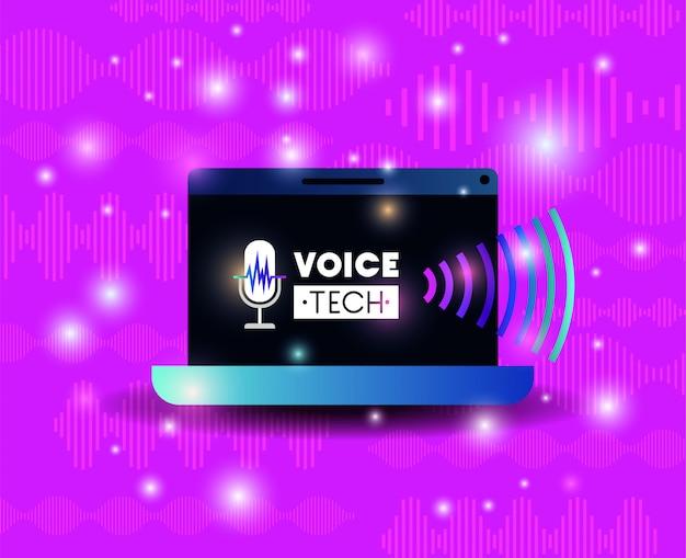 Computer portatile con tecnologia di riconoscimento vocale