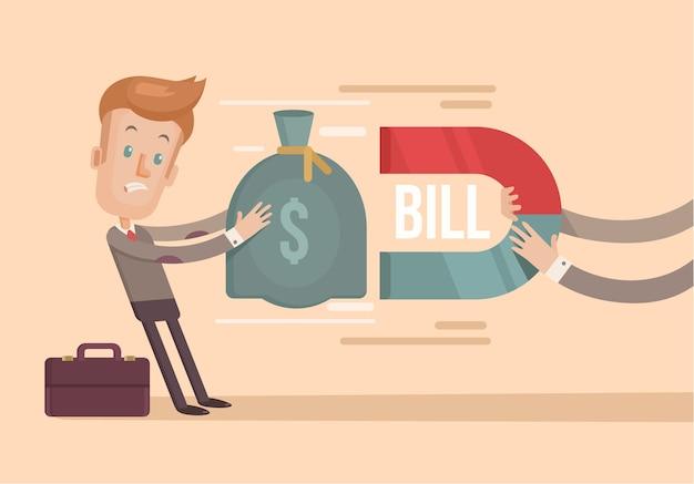 Grandi spese. illustrazione piatta