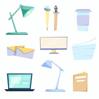 Ampio set di articoli per ufficio