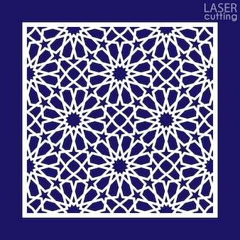 Taglio orientale in stile laser