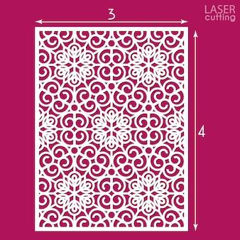 Pannello ornamentale tagliato al laser