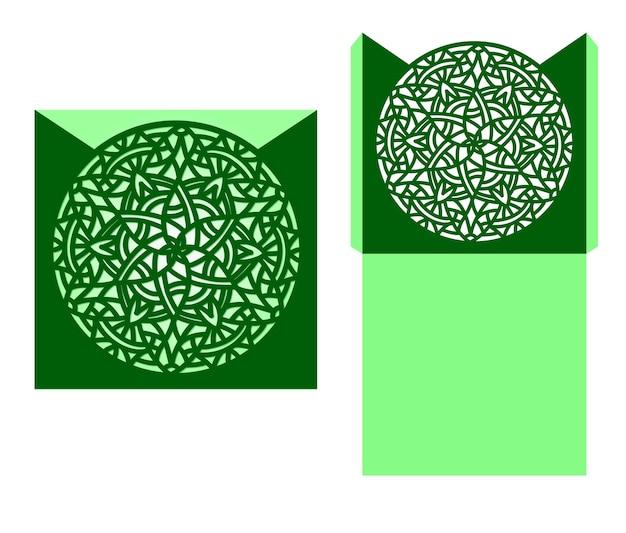 Taglio laser mandala ornamento vettoriale.