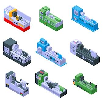 Set di icone del tornio