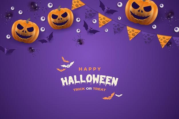 Festa di halloween delle zucche di risata