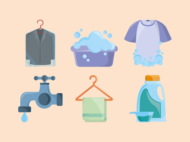 Icona del panno per il bucato