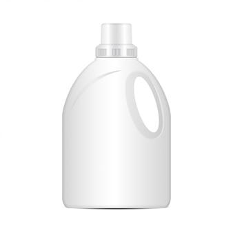 Bottiglia di plastica detergente per bucato, confezione realistica