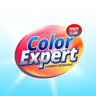 Detergente per lavanderia confezionamento del prodotto concept vector design