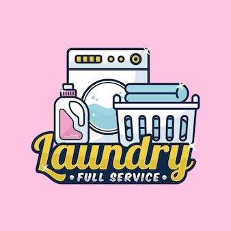 Logo di servizio completo di lavanderia