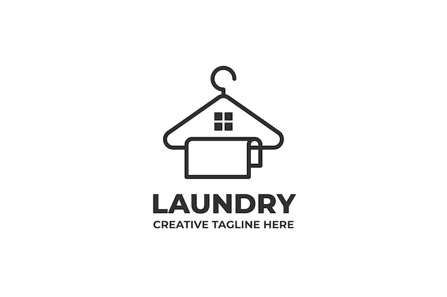 Stendibiancheria servizio di pulizia logo aziendale
