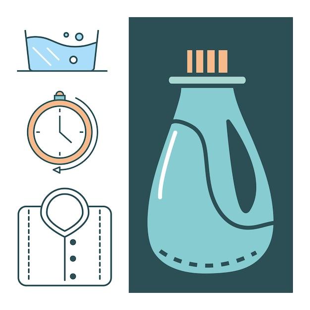 Set di icone della lavanderia