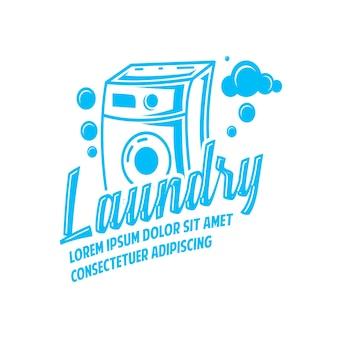 Logo della lavanderia con lo spazio del testo per il tuo slogan