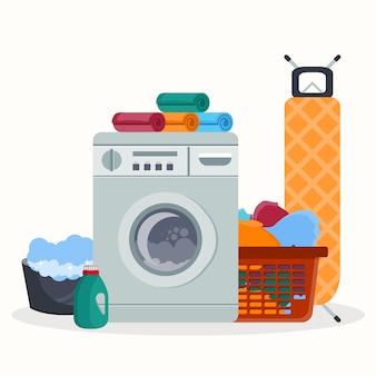 Concetto di servizio in camera lavanderia