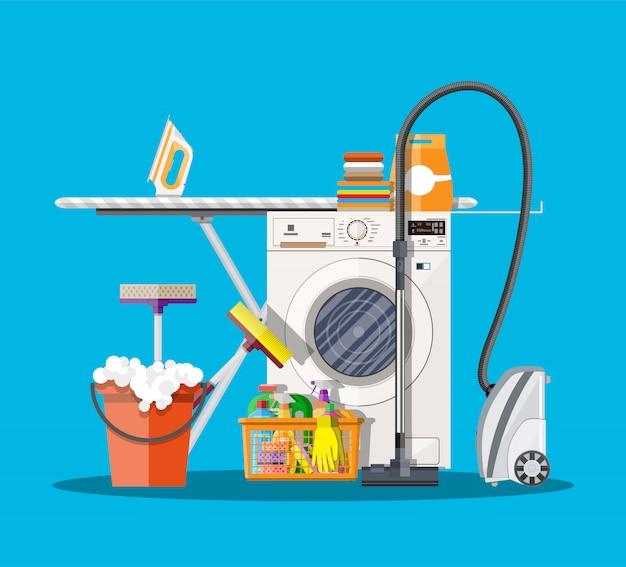 Lavanderia con lavatrice