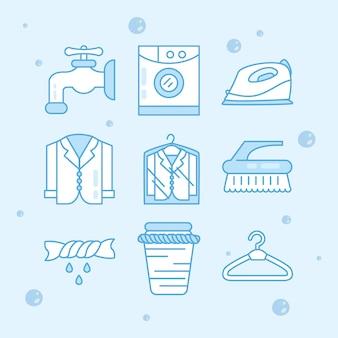 Icone del servizio di lavanderia