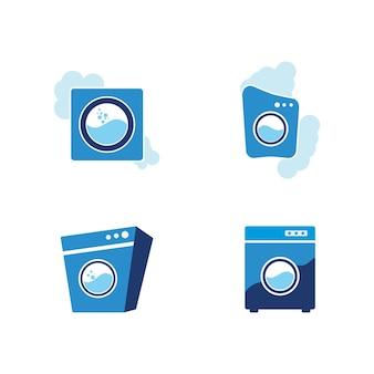 Modello di disegno dell'icona di vettore di lavanderia