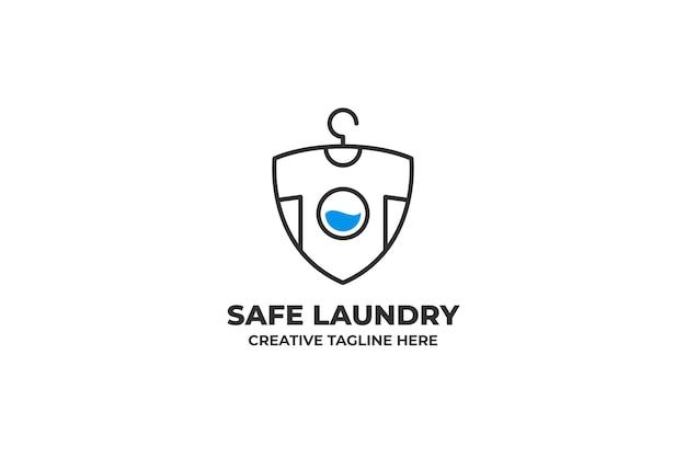 Logo aziendale per il lavaggio della lavanderia