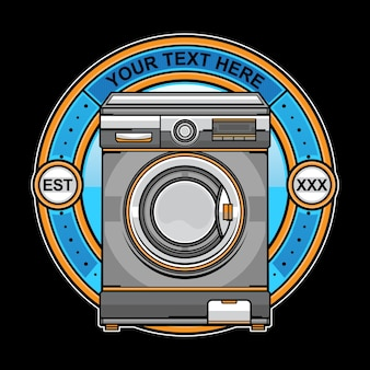 Logo della lavatrice per lavanderia
