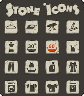 Icone web della lavanderia per il design dell'interfaccia utente