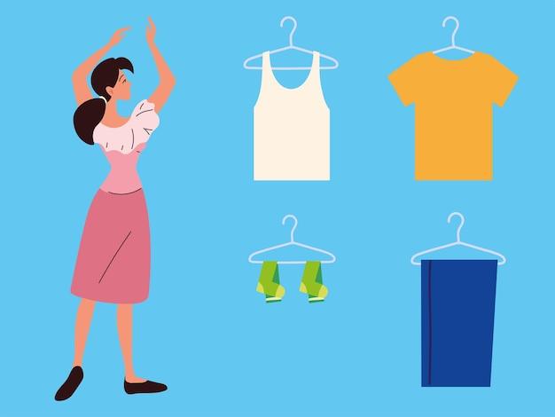Icone della donna della lavanderia