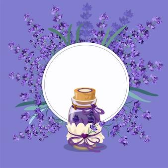 Stile di lavanda provance isolato su viola