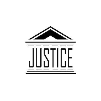 Ispirazione per il design del logo dell'ufficio legale e avvocato
