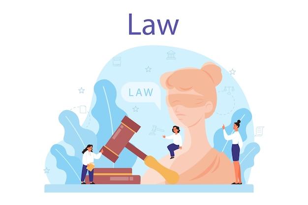 Illustrazione di concetto di classe di diritto