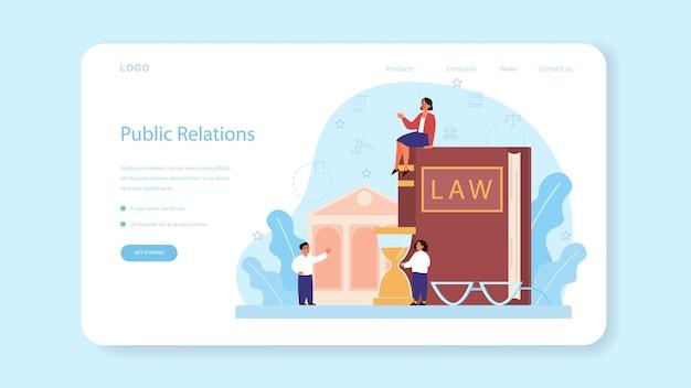 Banner web o pagina di destinazione del corso di legge