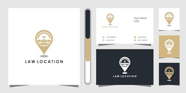 Studio legale posizione logo design e biglietto da visita