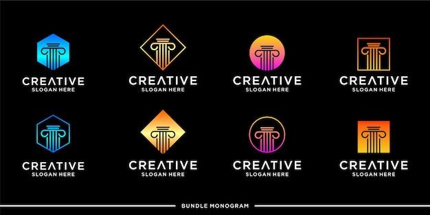 Modello di progettazione di logo dello studio legale