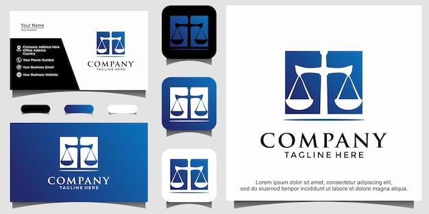 Modello di progettazione del logo dello studio legale