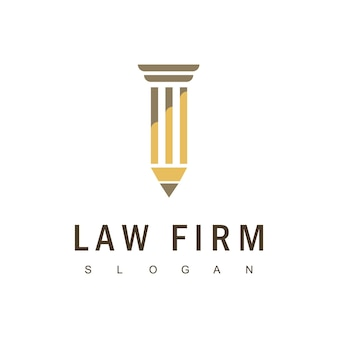Studio legale logo design vector