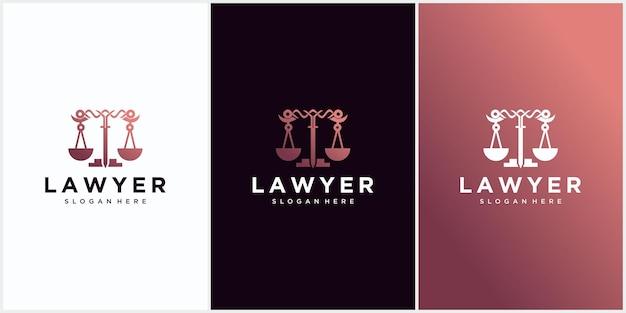 Logo dello studio legale, studio legale, servizio di avvocato, logo dell'emblema dell'annata di lusso, modello di logo di vettore di progettazione del logo della ditta di avvocato. pilastro con disegno vettoriale scudo. modello di progettazione dell'illustrazione