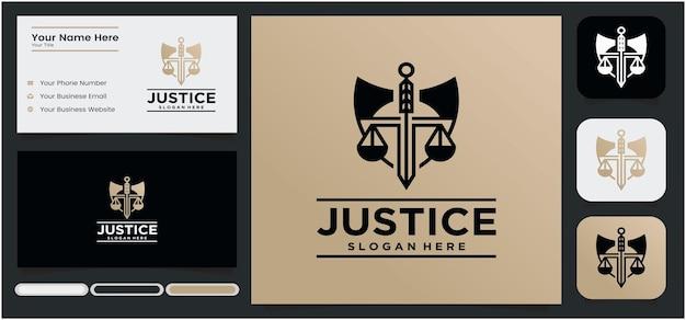 Logo dello studio legale a forma di scudo logo giustizia giustizia avvocato in colore oro