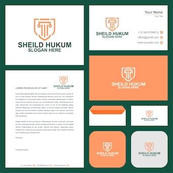 Modello di logo dello studio legale e biglietto da visita premium