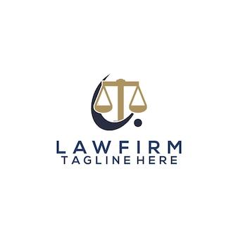 Concetto di vettore del logo dello studio legale
