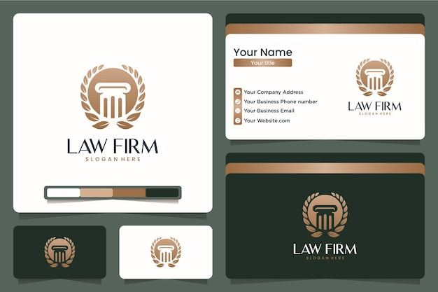 Studio legale, pilastro, design del logo e biglietto da visita