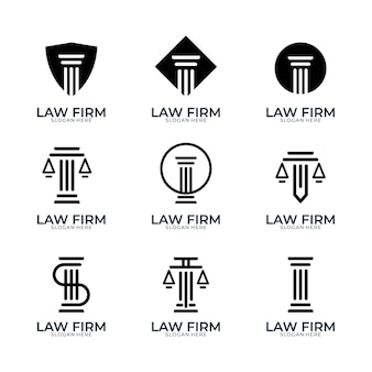 Studio legale semplice logo design set