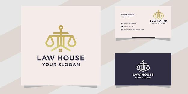 Modello di logo della casa di legge