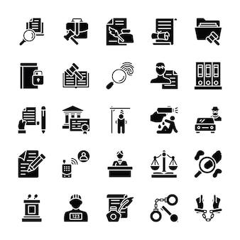 Pack di icone di legge e giustizia