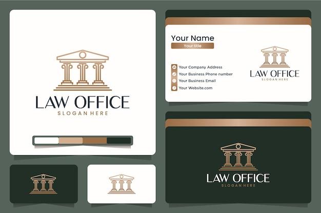 Studio legale, studio legale, design del logo e biglietto da visita