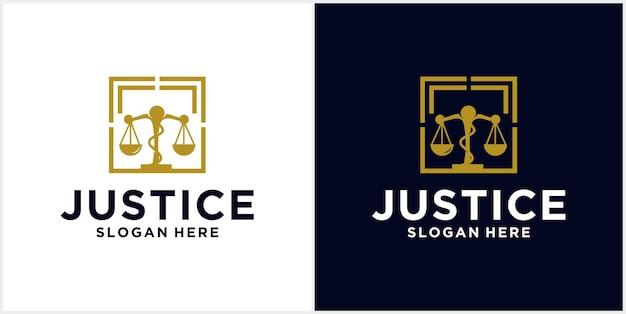 Logo della giustizia della raccolta del logo dell'ufficio legale, illustrazione del martello, avvocato, etichetta dell'avvocato, collezione di distintivi aziendali giuridici, design dell'icona legale.