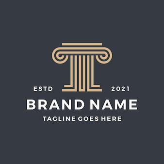 Logo di colore oro pilastro legge