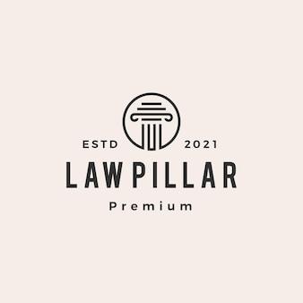 Logo vintage di legge pilastro hipster