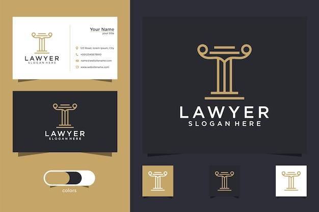 Modello di logo della carta di avvocato e biglietto da visita