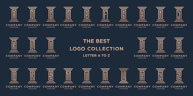 Insieme di modelli di logo di avvocato
