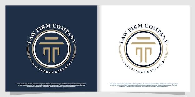 Logo dell'avvocato con stile elemento creativo vettore premium parte 5