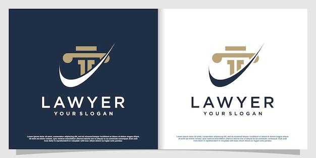 Logo dell'avvocato con stile elemento creativo vettore premium parte 7